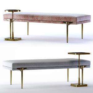 3D andrea bench kaela table model