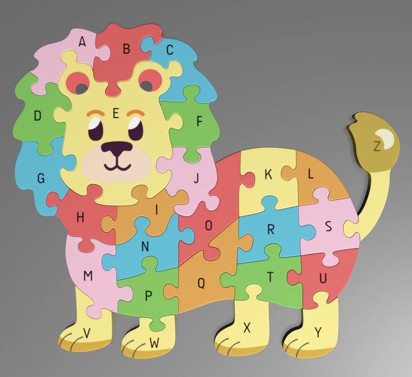 3D model alphabet puzzle
