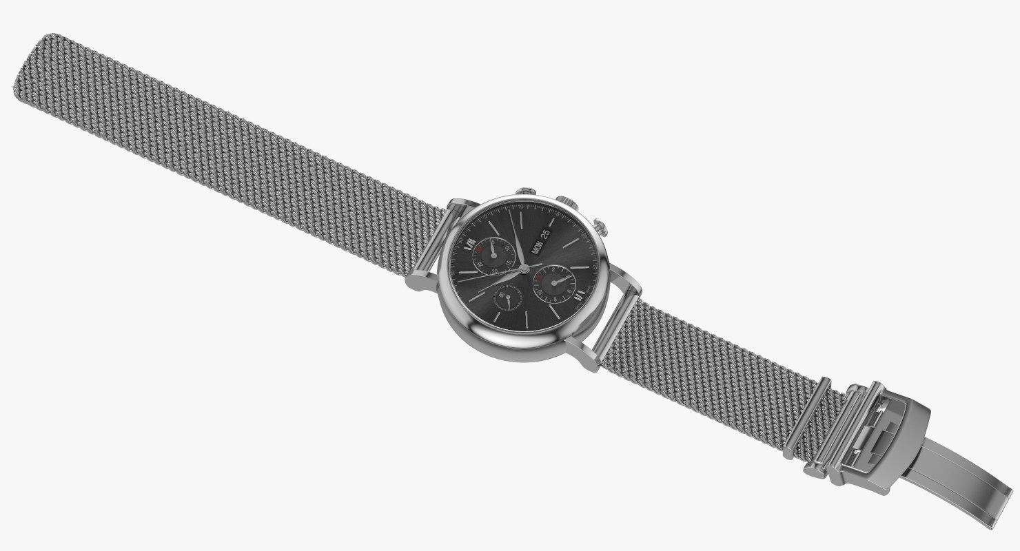 3D watch open milanese