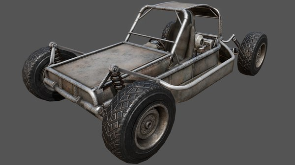 3D buggy pbr vehicle model