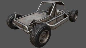 3D buggy pbr vehicle model