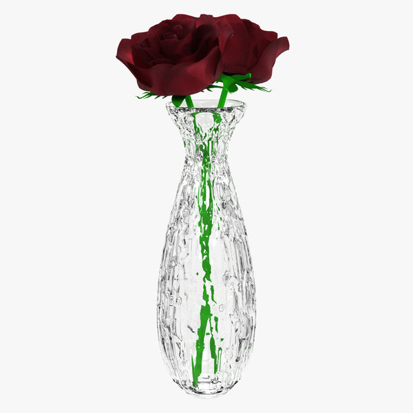red rose flower plant 3D