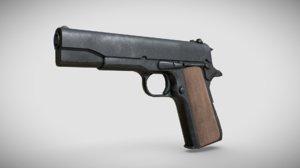 colt 1911 pbr 3D model