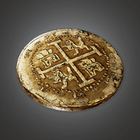 Ancient Treasure Coin 01 (TRS) - PBR Game Ready