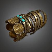 Ancient Treasure Bangle 01 (TRS) - PBR Game Ready