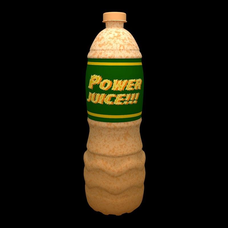 bottle energy drink water 3D model