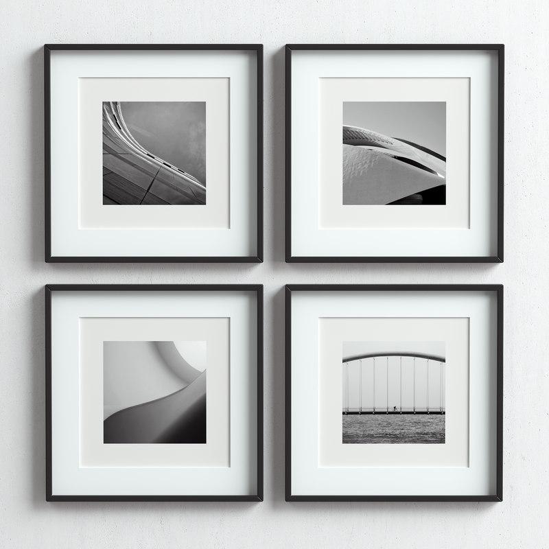 picture frames set 3D model