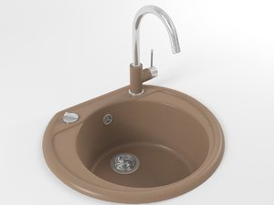 kitchen sink rondoval 4s model