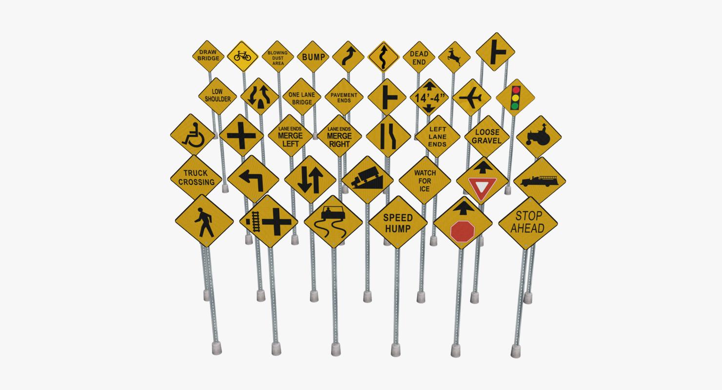 3D model traffic sign pack