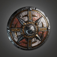 Ancient Warriors Shield 01 (TRS) - PBR Game Ready