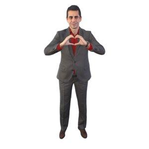 guy heart 3D model