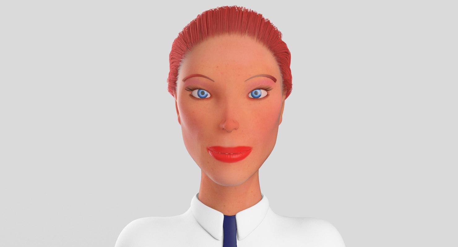 school girl female 3D