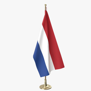 dutch office flag 3D model