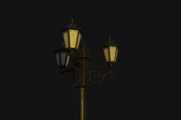 3D street lamp