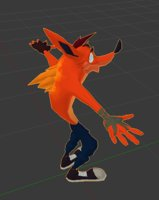 3D crash bandicoot polys