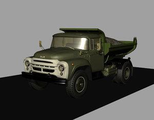3D model zil130 mmz555