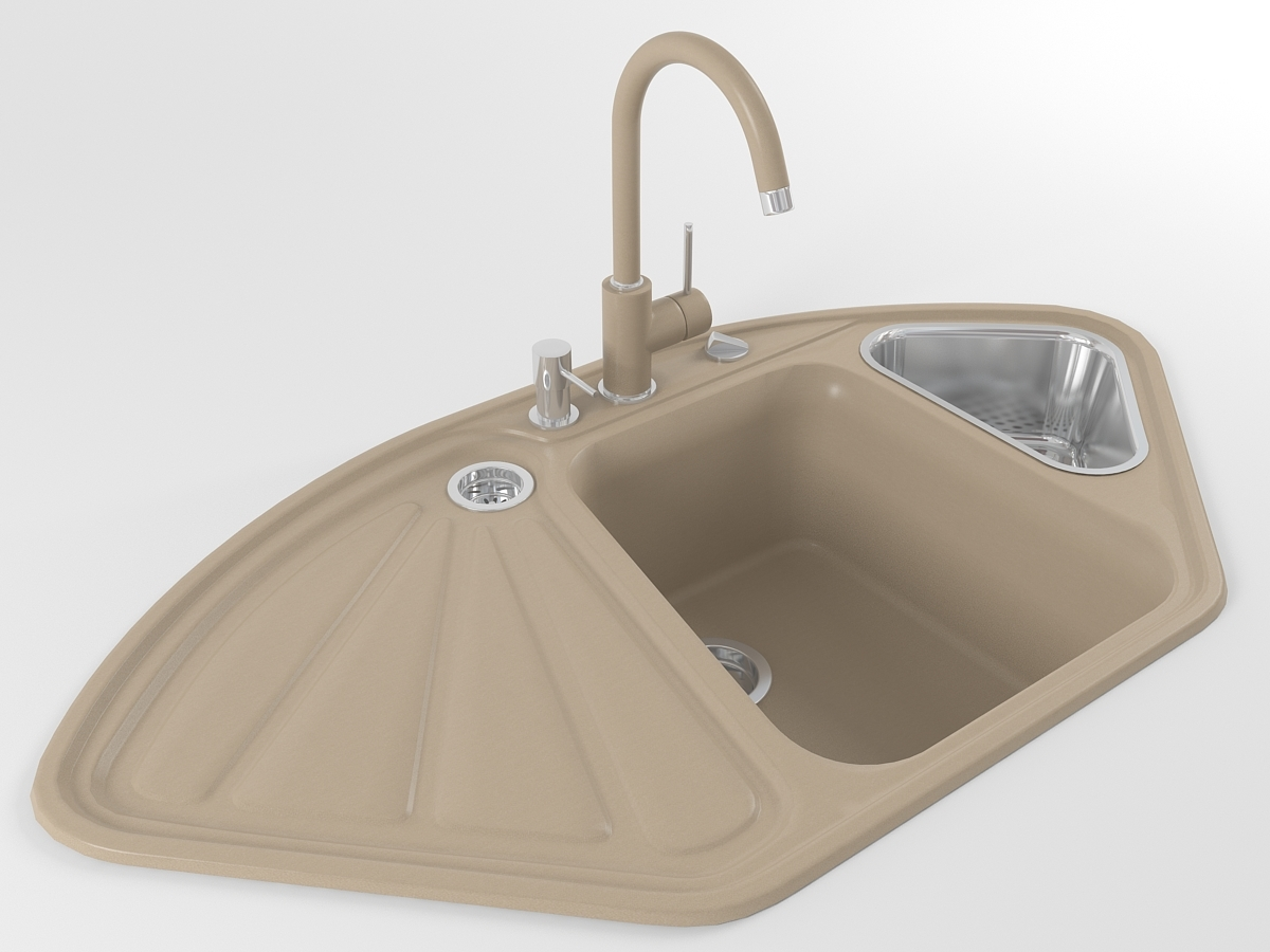 Kitchen sink DELTA (Beige)