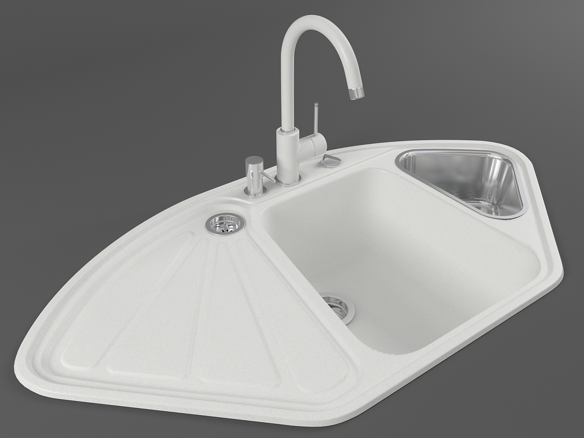 Kitchen sink DELTA (White)