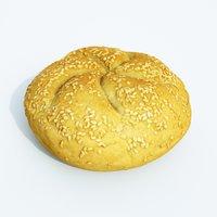 bread sesame 3D model