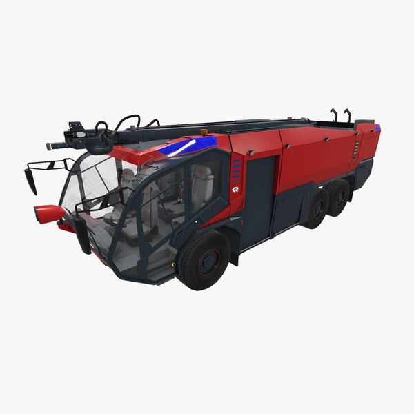3D rosenbauer panther 6x6 model