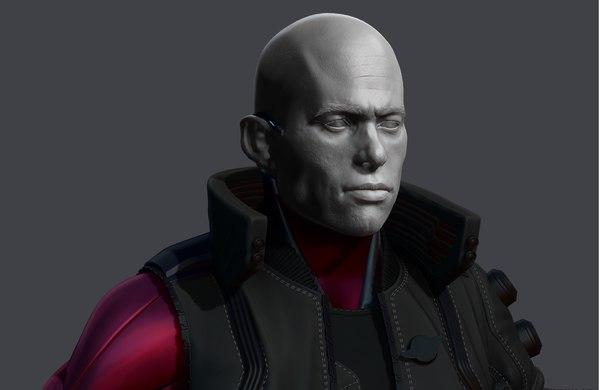 3D cyberpunk