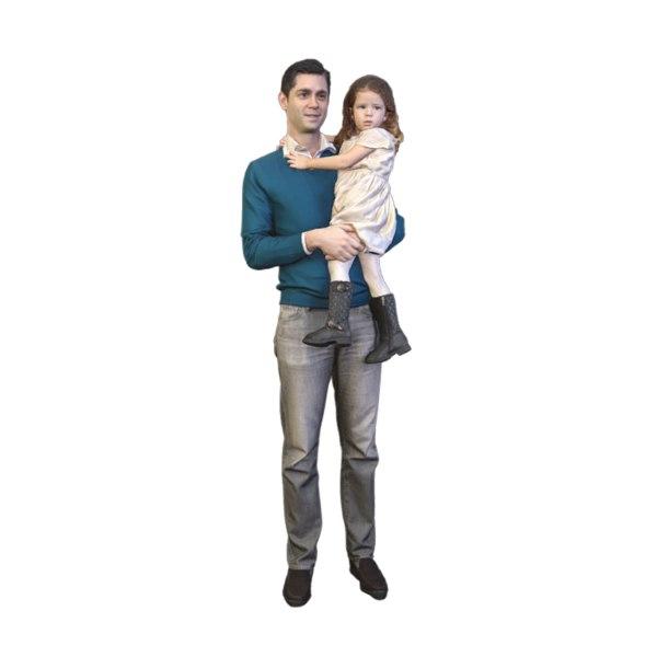 scanned daughter 3D model