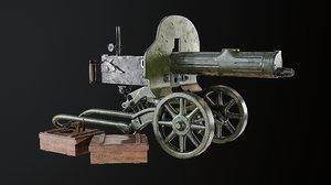 3D maxim metallic model