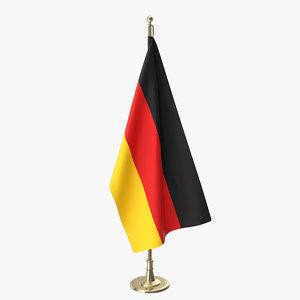 3D germany office flag model
