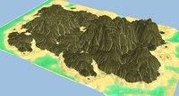 3D island scene model
