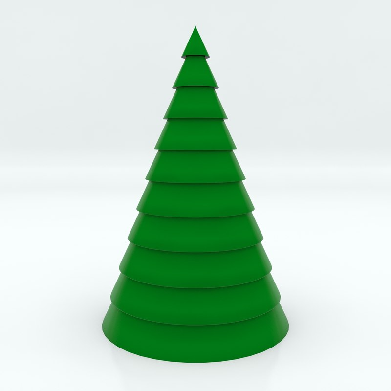 3D model cartoon christmas tree