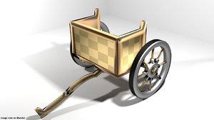 3D chariot assyrian model