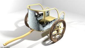 3D model chariot hittites