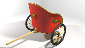 3D chariot roman
