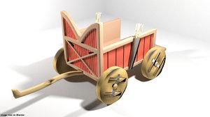 chariot sumerian 3D model