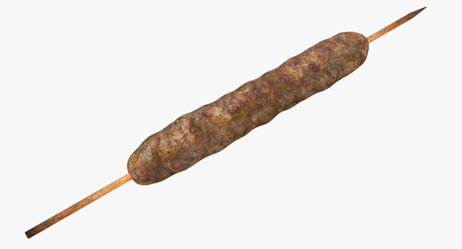 kebab skewers 3D model