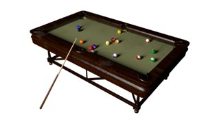pool table pocket ball model