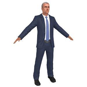 3D man manager model