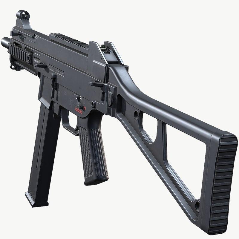 3D ump weapon gun model