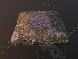 3D manhole model