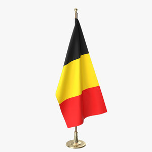 3D belgian office flag