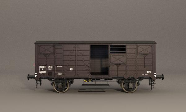 wagon sncf ocem 29 3D