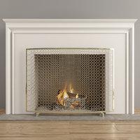 firewood fireplace 3D model