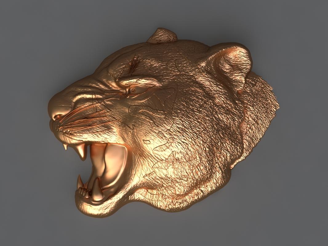3D tiger mold hand