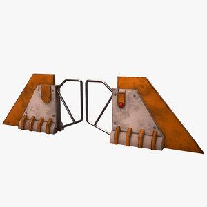 3D old turnstile