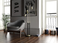 floorlamp lighting interior 3D model