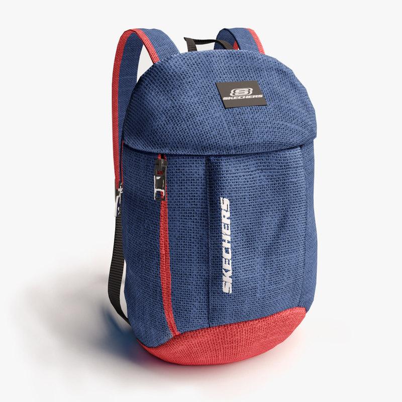 3D model backpack pack