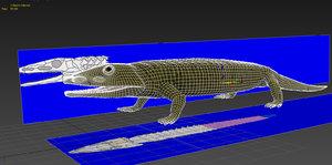 3D chroniosuchus paradoxus model