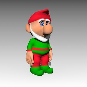 elf cartoon model