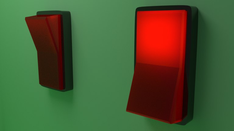 3D red switch