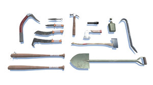 3D model survival kit - tools